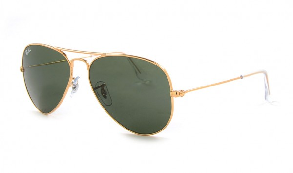 Ray Ban Aviator Large Metal RB 3025 W3234 55 Gold Grey Green