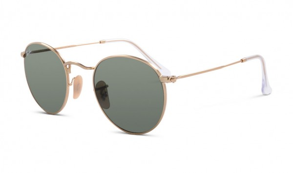 Ray Ban Round Metal RB 3447 001 47 Arista Crystal Green
