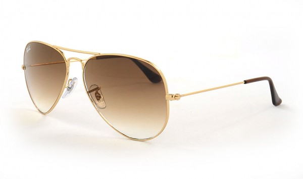 Ray Ban Aviator Large Metal RB 3025 001-51 58 Gold Crystal Brown Gradient