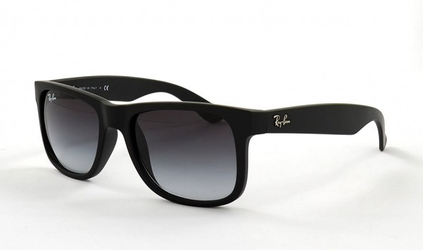 Ray Ban Justin RB 4165 601 8G 51 Rubber Black Grey Gradient