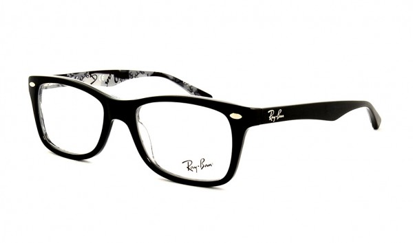 Ray Ban RX 5228 5405 50 Top Black On Texture