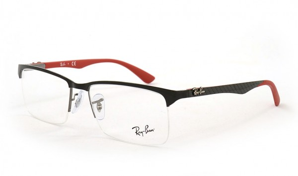 Ray Ban RX 8411 2509 56 Shiny Black Demo Lens