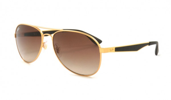 Ray Ban RB 3549 112-13 58 Matte Gold Gradient Brown