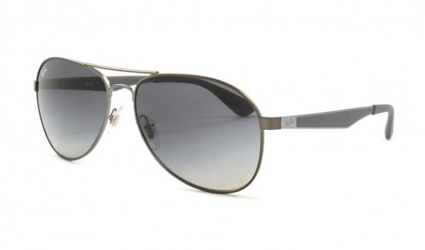 Ray Ban RB 3549 029-11 61 Matte Gunmetal Gradient Grey