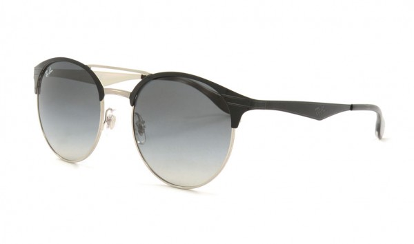 Ray Ban RB 3545 9004-11 54 Top Black On Silver Grey Gradient
