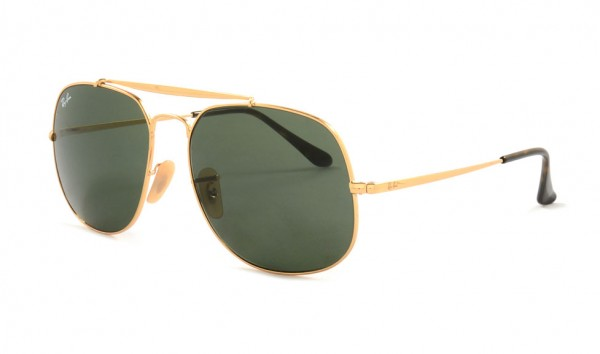Ray Ban RB 3561 001 57 Gold Green