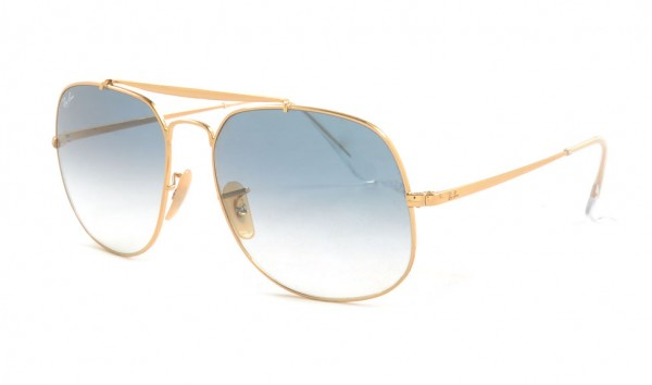 Ray Ban RB 3561 001-3F 57 Gold Blue Gradient