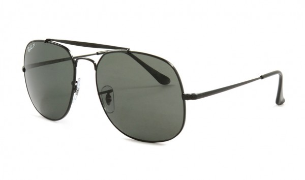 Ray Ban RB 3561 002-58 57 Black Polar Green