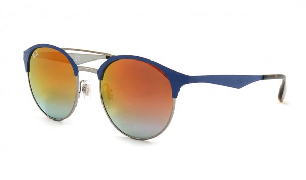 Ray Ban RB 3545 9005-A9 51 Gunmetal Matte Blue Gradient Violet