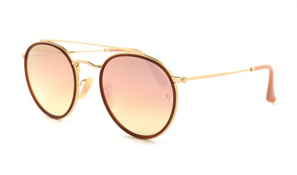 Ray Ban RB 3647-N 001-70 51 Gold Gradient Brown Mirror Pink