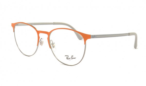 Ray Ban RX 6375 2949 51 Gunmetal Top On Orange