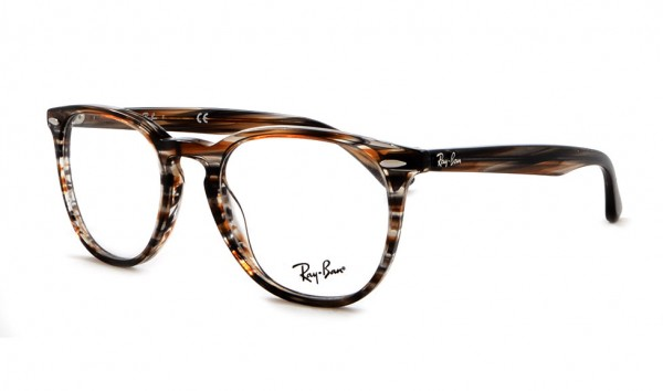 Ray Ban RX 7159 5749 50 Brown Grey Stripped