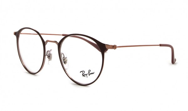 Ray Ban RX 6378 2973 47 Copper On Top Light Brown