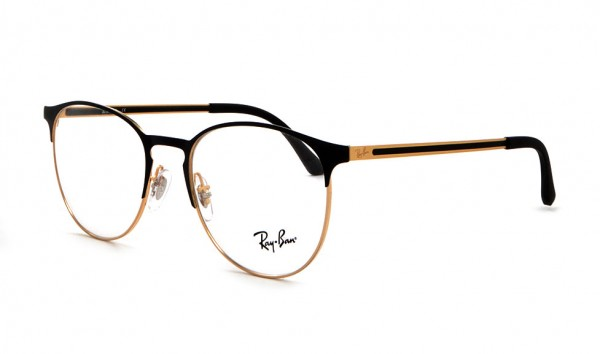 Ray Ban RX 6375 2890 51 Gold Top On Black