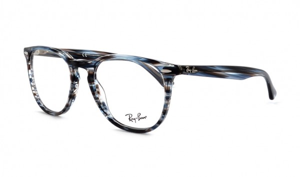 Ray Ban RB 7159 5750 52 Blue Grey Stripped
