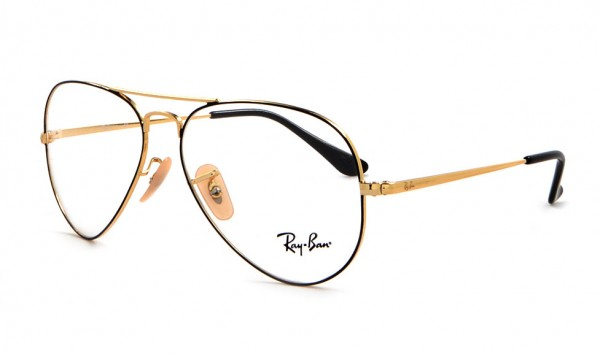 Ray Ban RX 6489 2946 55 Gold On Top Black