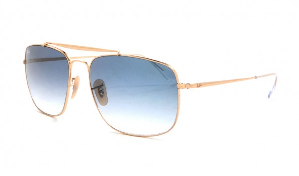 Ray Ban RX 3560 001-37 61 Gold Clear Graident Blue