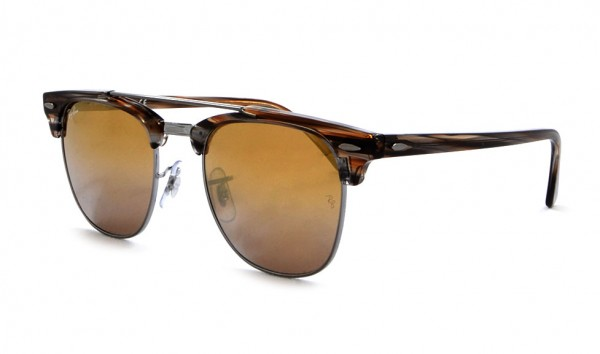 Ray Ban RX 3816 1238-I3 51 Gunmetal Brown Mirror Silver Gradient