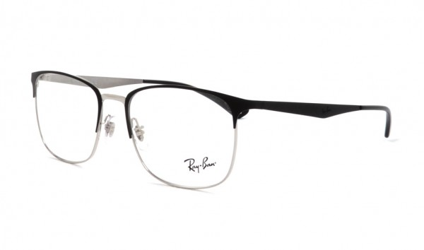 Ray Ban RX 6421 2997 54 Silber On Top Matte Black