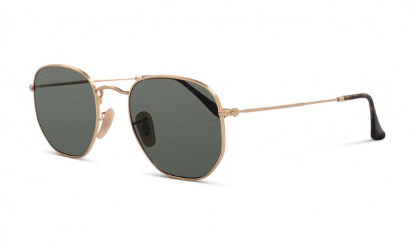 Ray Ban RB 3548-N 001 51 Gold Green