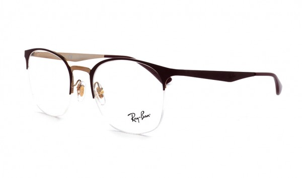 Ray Ban RB 6422 3007 49 Pink Gold On Top Matte Bordeaux