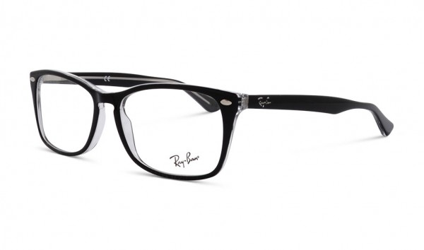 Ray Ban RB 5228M 2034 56 Trasparent On Top Black