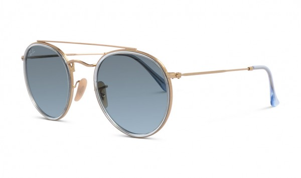 Ray Ban RB 3647-N 9123-3M 51 Gold Blue Gradient Grey