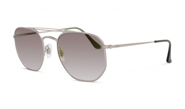 Ray Ban RB 3609 9142-0R 54 Demi Gloss Silver Tri Gradient Grey Green Trasparent