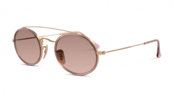 Ray Ban RB 3847-N 9125-A5 52 Gold PInk Gradient Brown