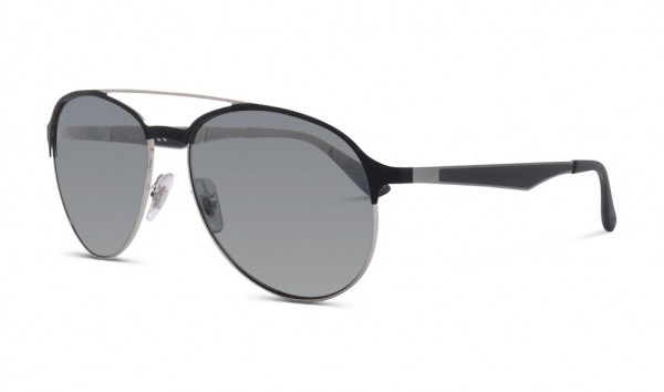 Ray Ban RB 3606 9126-88 Silver On Top Matte Grey Grey Mirror Silver Gradient