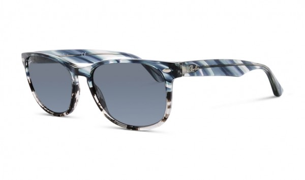 Ray Ban RB 2184 1252-R5 57 Blue Gradient Grey Stripped Blue