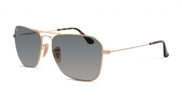 Ray Ban RB 3136 181-71 58 Gold Light Grey Gradient Dark Grey