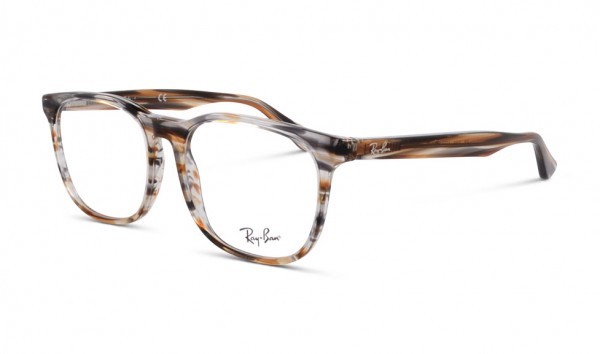 Ray Ban RB 5369 5751 50 Stripped Brown Grey