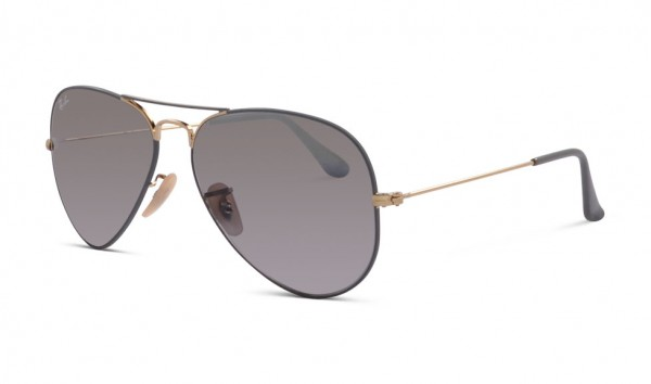 Ray Ban RB 3025 9154-AH 58 Gold On Top Matte Grey Grey Bi-Mirror Grey