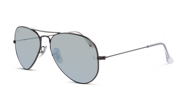 Ray Ban RB 3025 029-30 55 Matte Gunmetal Green Mirror Silver