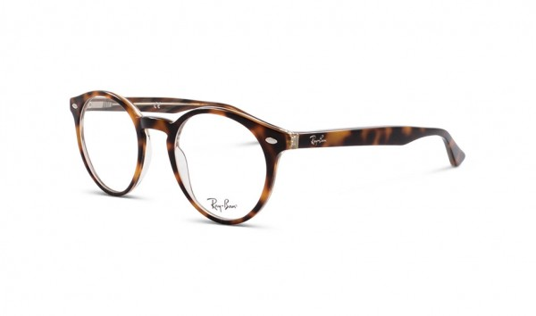 Ray Ban RB 5376 5913 47 Top Black Dark Brown Yellow