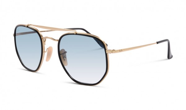Ray Ban RB 3648-M 9167-3F 52 Gold Clear Gradient Blue